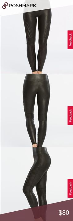 b705bbe866cf66 Spanx Moto Leggings Spanx Moto Leggings // Black, faux leather // these are  the best leggings, they suck you in and make everything look smooth //  excellent ...