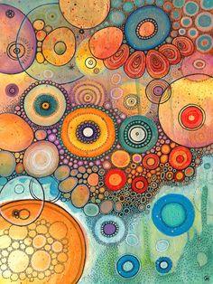 Art journal idea - Dream Machines by Courtney Autumn Martin Kunstjournal Inspiration, Art Journal Inspiration, Painting Inspiration, Pintura Graffiti, Guache, Alcohol Ink Art, Aboriginal Art, Silk Painting, Art Plastique