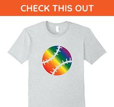 Mens Rainbow Baseball Gay Sport Clothes For Men Women XL Heather Grey - Sports shirts (*Amazon Partner-Link)