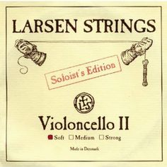Larsen Strings Soloist Series Cello Strings G, Soloist, Medium by Larsen Strings. $85.59. Larsen Soloist Strings come from Denmark and provide balanced carrying power and powerful timbre. Soloist Strings have more projection and are especially suited for large-bodied instruments.