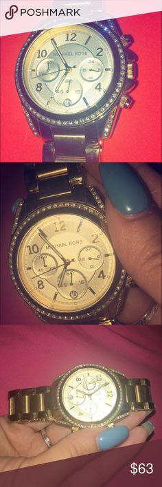Michael Kors boyfriend watch MK good watch. Missing a gem or two but still super cute watch. Michael Kors Accessories Watches