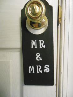 Just Married Do Not Disturb  Mr & Mrs Door Hanger by ArtByAngeline, $8.00