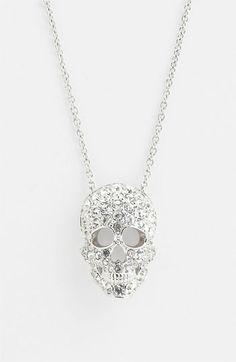 Nadri 'Skull' Pendant Necklace (Nordstrom Exclusive)   Nordstrom