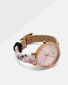 1dc91c5210dd51 Oriental Blossom leather strap watch - Light Grey