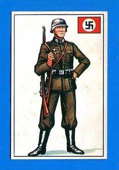 """ARMI E SOLDATI - Edis 71 - Figurina-Sticker n. 415 - SOLDATO DELLA """"SS"""" -Rec"""