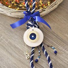 Handmade greek jewelry and crochet accessories! Evil Eye Jewelry, Evil Eye Bracelet, Greek Jewelry, Unique Jewelry, Greek Easter, Greek Evil Eye, New Years Decorations, Semi Precious Beads, Lucky Charm