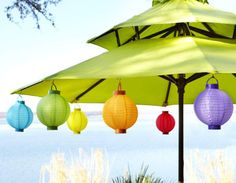 Lanterns transform your patio into a celebration of summer #Pier1OutdoorParty #Sponsored #MC