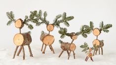 Hannah likes to use fallen birch branches from her yard to create tiny deer to be used as ornaments.