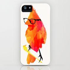Punk bird iPhone Case by Robert Farkas - $35.00