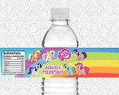My Little Pony Birthday Water Bottle Label....really cute