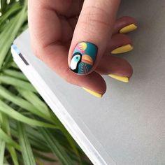 No photo description available. Fruit Nail Designs, Tribal Nail Designs, Simple Acrylic Nails, Manicure Y Pedicure, Fire Nails, Minimalist Nails, Dream Nails, Stylish Nails, Perfect Nails