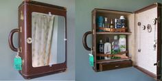 Turn old luggage into a medicine cabinet and 22 more cool refurbishing ideas via Matador Network