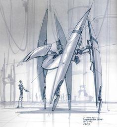 Vulture droid concept. Original designer/artist: Doug Chiang.