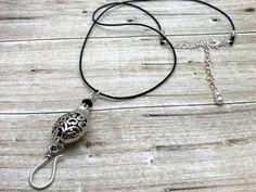 Silver Filigree Portuguese Knitting Necklace- Stitch Marker Holder