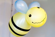 Celebrate Spring with These Spring Party Ideas. (Bee balloon.)