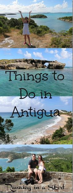 Things to do in Antigua! Highlights and excursions off the resort on this beautiful Caribbean island.  From sightseeing, snorkeling, Devil's Bridge, hiking and hobie cat sailing there is something for everyone! Includes fun from the all-inclusive Sandals. Bucket list! / Running in a Skirt