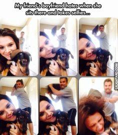 Boyfriend hates when she takes selfies