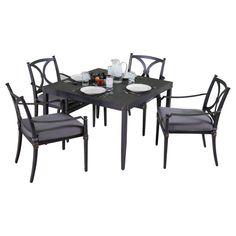 RST Brands Astoria 5-Piece Patio Cafe Dining Set with