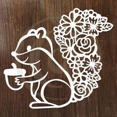 Discover this Papercut Floral Squirrel SVG/DXF Cutting file, and thousands more high quality designs for Cricut, Silhouette, and other cutting machines at Craft Genesis. Window Cling Vinyl, Window Clings, Fall Crafts, Crafts To Make, Fall Window Decorations, Quilling, Paper Cutting Templates, Paper Crafts Origami, Animal Coloring Pages