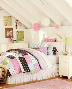 Pottery Barn Kids offers kids & baby furniture, bedding and toys designed to delight and inspire. Create or shop a baby registry to find the perfect present. Home Bedroom, Girls Bedroom, Bedroom Decor, Bedroom Ideas, Bedrooms, Cute Bedspreads, Dreams Beds, Baby Furniture, Garden Furniture
