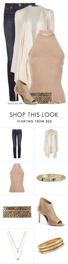 """Laser-Cut Bag & Shoes"" by houston555-396 ❤ liked on Polyvore featuring Tory Burch, Ralph Lauren Blue Label, Rosetta Getty, Luxiro, Nancy Gonzalez, Donald J Pliner, White House Black Market and Ross-Simons"