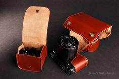 Fuji X-E1 full leather case and strap set