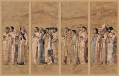 Communion of the Saints tapestries at the Cathedral of Our Lady of the Angels, Los Angeles. #catholic #art
