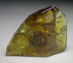 Sphene gem crystal from Mullah Ghani, Pakistan