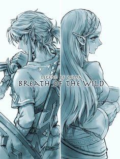 Link & Zelda (The Legend of Zelda: Breath of the Wild)