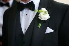 Buttonhole with white carnation