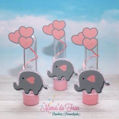 Elephant Party, Elephant Baby Showers, Baby Elephant, Baby Shower Deco, Baby Boy Shower, Polymer Clay Elephant, Baby Candy, Baby Shower Invitaciones, Baby Shawer