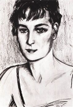 Magritte - 1924 Drawing of Georgette, Rene's wife, modeland muse