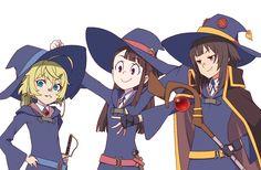 Anime Crossover  Megumin (KonoSuba) Tanya Degurechaff Atsuko Kagari Little Witch Academia Youjo Senki KonoSuba Wallpaper