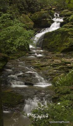 An impressive waterfall in York County, Pennsylvania
