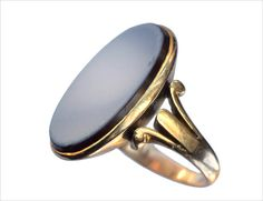 Late 19th Century Agate Signet Ring, 14K (in the online shop)