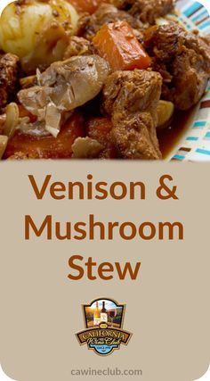 Enjoy this tasty stew with a #PinotNoir. #wine #recipes #cwc #cawineclub
