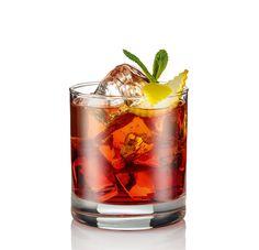 Americano D.O.C. | Volare Cocktails. Pour into a glass filled with ice the Volare Red bitter, Red vermouth and mint. Top with ginger beer. Garnish with mint, lemon zest and serve.   Versare direttamente nel bicchiere colmo di ghiaccio il Red Bitter, un po' di Red Vermouth e della menta. Colmare con il ginger beer. Guarnire poi con menta e buccia di limone quindi servire. Cocktails, Drinks, Shot Glass, Tableware, Top, Mint, Craft Cocktails, Drinking, Beverages