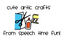 Speech Time Fun: Cute Artic Crafts!  List of websites and sounds they can work on!   # Pin++ for Pinterest #