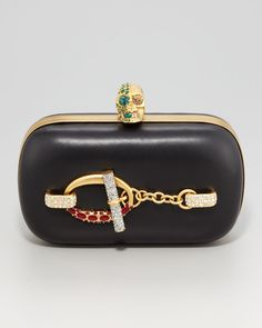 Crystal Toggle Clutch by Alexander McQueen