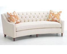 Curved Sofa With Tufted Back