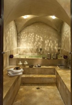 Hammam style - This could easily be reworked to be used for a home bathroom!