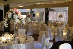 Flower Design Events: The Perfect Rose Pink Wedding Day of Andrea & John at St Cuthbert's Church & The Grand Hotel