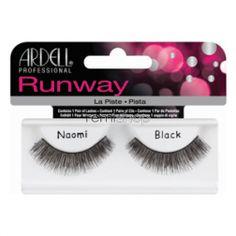Ardell Runway Naomi  - Color BLACK - Strip Glamour Style Eyelashes