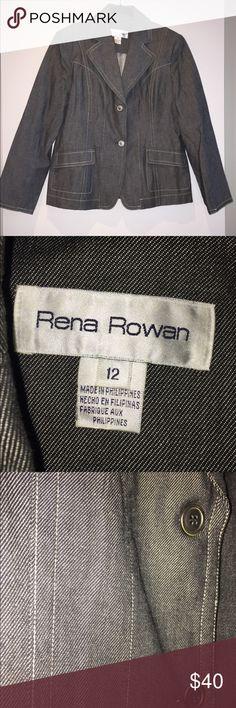 Denim Blazer/Jacket Denim material blazer/jacket by Rena Rowan. Size 12. In perfect condition! Rena Rowan Jackets & Coats Blazers