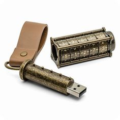 USBに物理錠   最後はまるでクリプテックス。実際に購入可能な驚き。     おみやげにも喜ばれそうなこの製品、USBメモリが時代を示すひとつの象徴になった証なのかもしれません