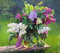 Купить Сиреневый свет - комбинированный, сиреневый, сиреневые цветы, сирень, сиреневый цветок, картина в подарок