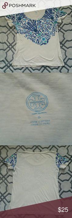 Tory Burch Shirt 100% cotton....Off White Tory Burch Tops Tees - Short Sleeve