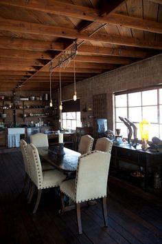 Loft dining at Smokey Hollow Studios, El Segundo, CA.  Smokey Hollow Studios, an event space.