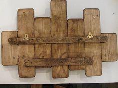 65cm teruggewonnen pallet wood zweven plank / led kaars houder