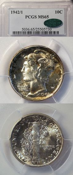 Albanese Rare Coins has this item on Collectors Corner - 1942/1 10C MS65 PCGS